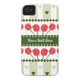 Tulips & Hearts iPhone 4 Case-Mate iPhone 4 Case