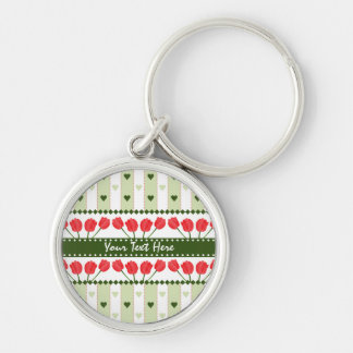 Tulips & Hearts key chain, customize Keychain