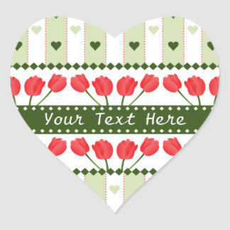 Tulips & Hearts stickers