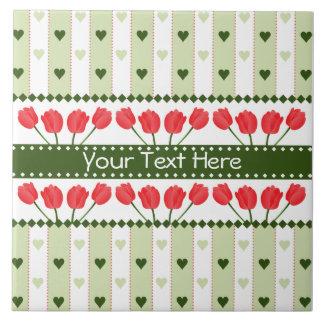 Tulips & Hearts tile, customize Tile
