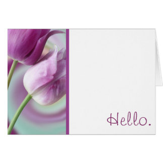 Tulips - Hello Stationery Note Card
