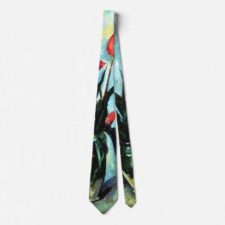Tulips in a Vase by Paul Cezanne, Vintage Art Neck Tie