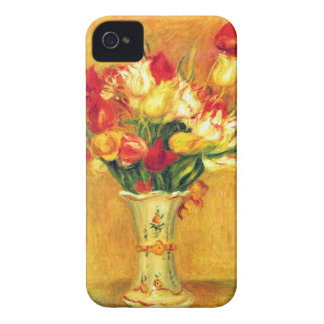 Tulips in a Vase by Pierre Renoir iPhone 4 Cases
