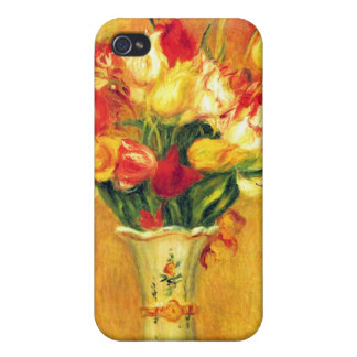 Tulips in a Vase by Pierre Renoir Cases For iPhone 4