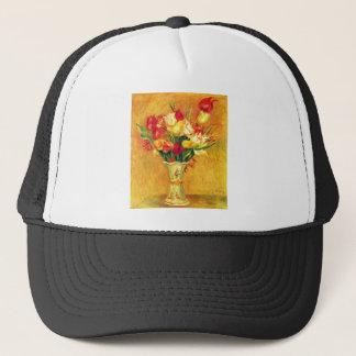 Tulips in a Vase by Pierre Renoir Trucker Hat