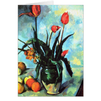 'Tulips in a Vase' Card