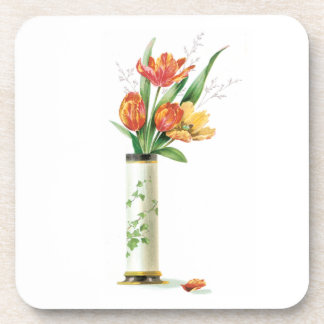 Tulips in a Vase Cork Coasters