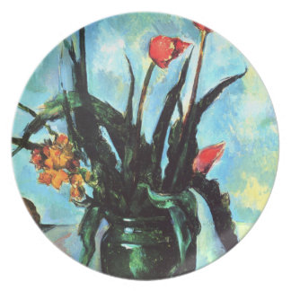 'Tulips in a Vase' Dinner Plate
