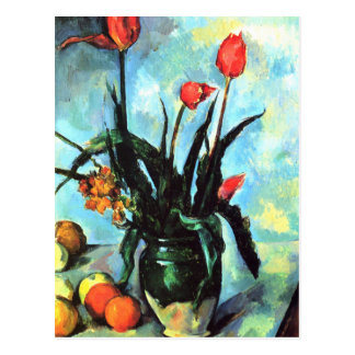 'Tulips in a Vase' Postcard