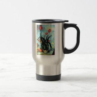'Tulips in a Vase' Travel Mug