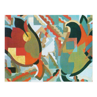 Tulips in Abstract Postcard