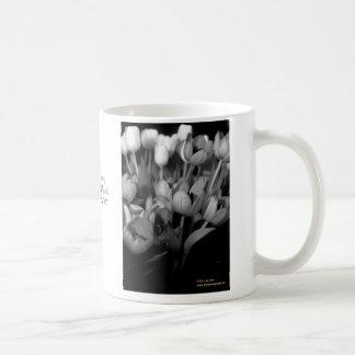 Tulips in B&W Coffee Mug
