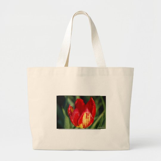 tulips in bloom large tote bag