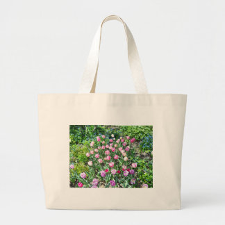 Tulips in Central Park Large Tote Bag