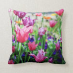 TULIPS IN FULL BLOOM CUSHION THROW PILLOW