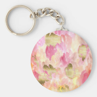 Tulips in gold keychain