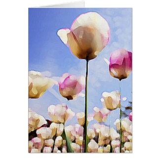 Tulips in June Card