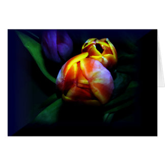 Tulips in Oil - Everyday Note Card