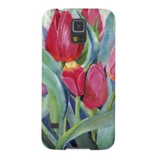 Tulips in Red and Pink Galaxy S5 Cover