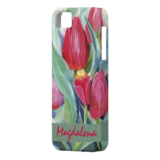 Tulips in Red and Pink iPhone SE/5/5s Case