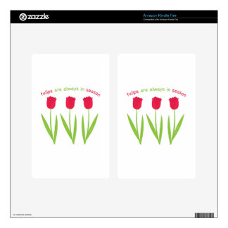 Tulips In Season Decal For Kindle Fire