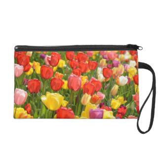 Tulips in the Garden Wristlet Purse