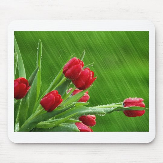 Tulips in the Rain Mouse Pad