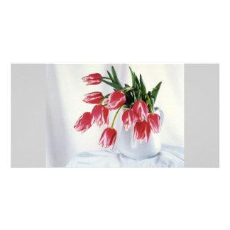 tulips in vase card