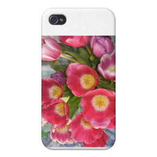 Tulips Cover For iPhone 4