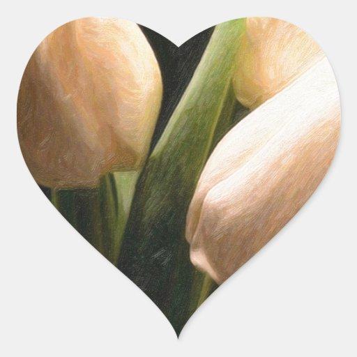 tulips.jpg blanco pegatinas de corazon personalizadas