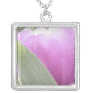 Tulips, Keukenhoff Gardens, Netherlands. 2 Silver Plated Necklace