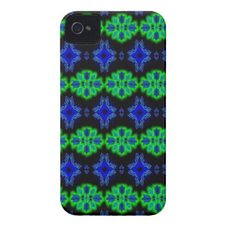 Tulips kind Deco in Retro style green blue black iPhone 4 Case-Mate Cases