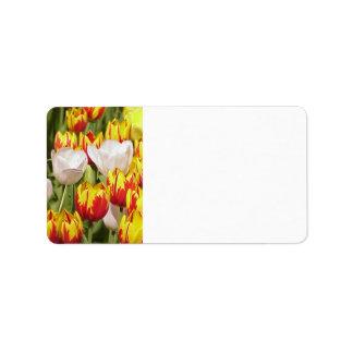 Tulips Label