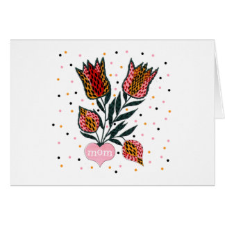 Tulips Mom T-shirts and Gifts Greeting Card
