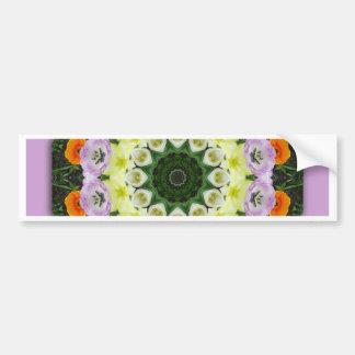Tulips Nature, Flower-Mandala Bumper Sticker