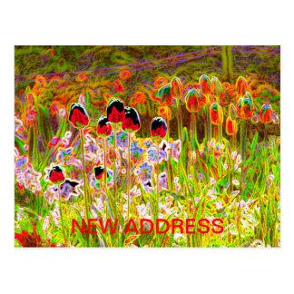 Tulips New Address Postcard