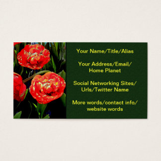 Tulips of Many Petals Business Card