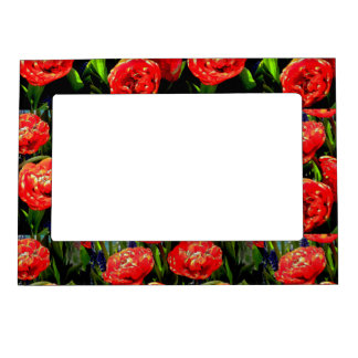 Tulips of Many Petals Magnetic Frame