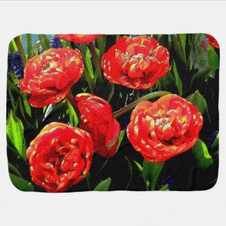 Tulips of Many Petals Receiving Blanket