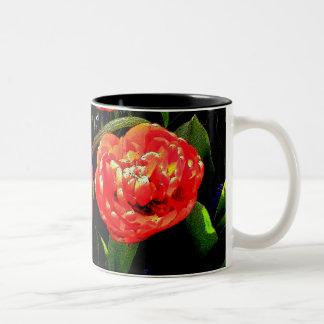 Tulips of Many Petals Two-Tone Coffee Mug
