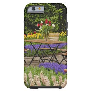 Tulips of table in garden, Keukenhof Gardens, Tough iPhone 6 Case