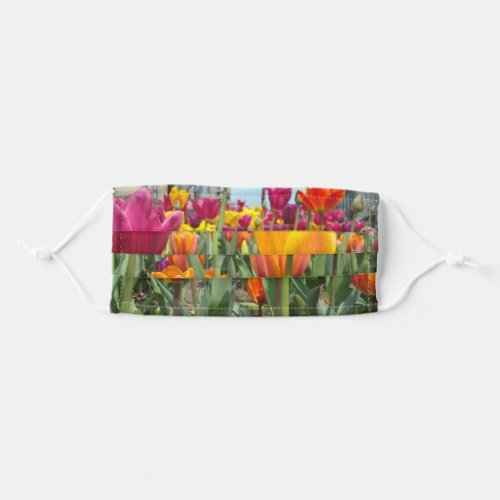Tulips On Parade Face Mask