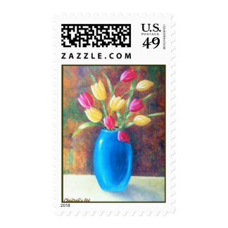 Tulips on the way.. postage stamp