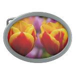 Tulips Oval Belt Buckle