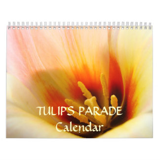 TULIPS PARADE Calendar Gifts Friends Tulip Flowers