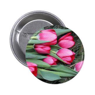 tulips pinback button
