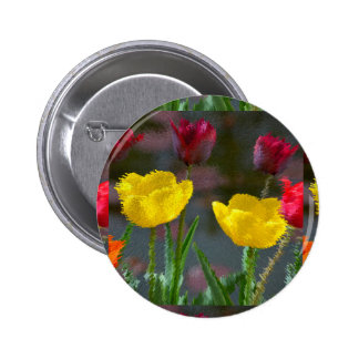 Tulips polychrome flowering, photo extrudes, pin