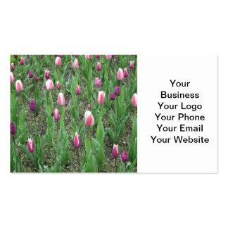 Tulips Purple Flowers Business Card Template
