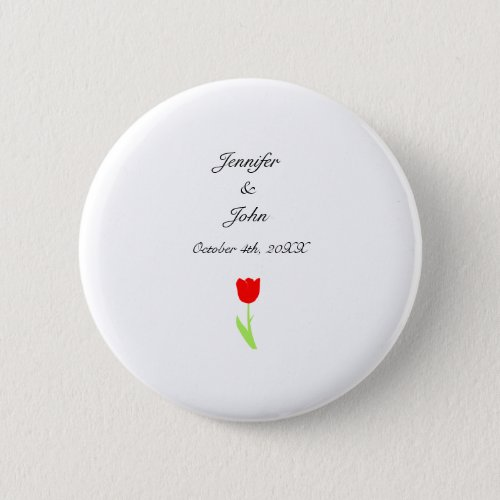 Tulips Red Floral Flower Pretty Cool Wedding White Button