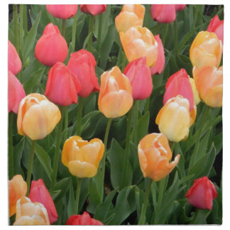 Tulips (Red & Gold) Napkins